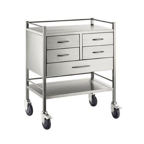 Trolley S/S Resuscitation 5 Drawers 75x50x97cm