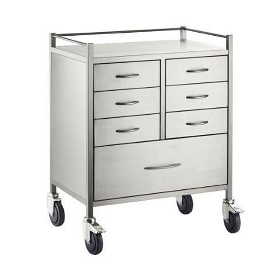 Trolley S/S Resuscitation 7 Drawers 75x50x97cm