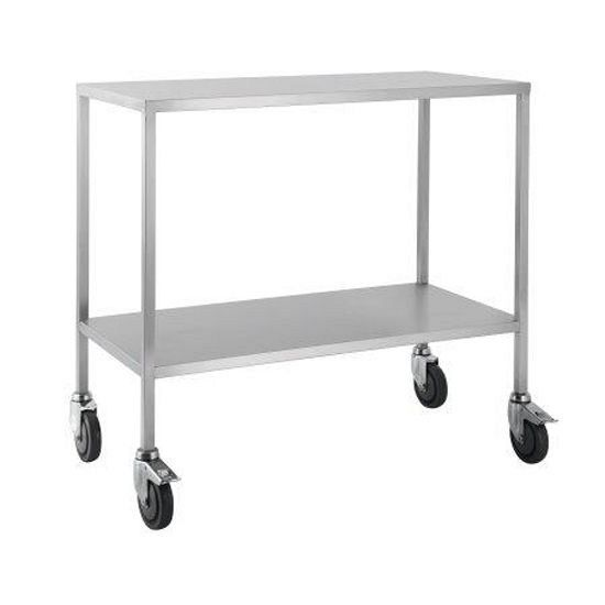 Trolley Stainless Steel Flat Top No Draw 60x50x90CM