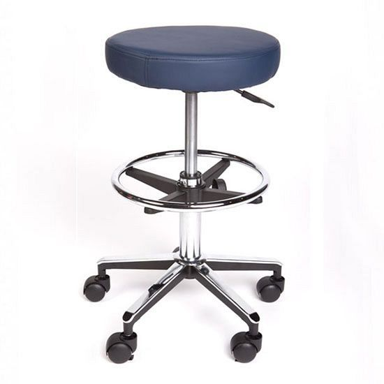 Premium round stool with foot ring